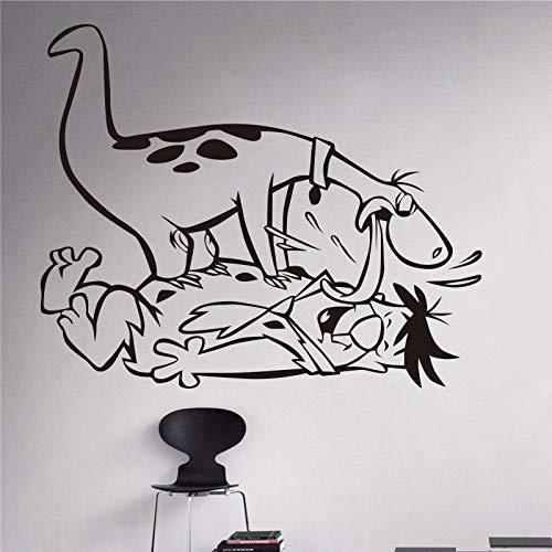 haotong11 Neue Ankunft Aufkleber Cartoon Flintstones Vinyl Aufkleber Kindergarten Dekoration kinderzimmer wandaufkleber Wohnzimmer 58 * 64 ()