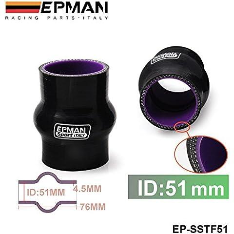 """lesmartzyn (TM) autofab–epman 2""""51MM in silicone Hump Hose–Connettore A soffietto in silicone gomma accoppiatore tubo dritto tubo ep-sstf51"""