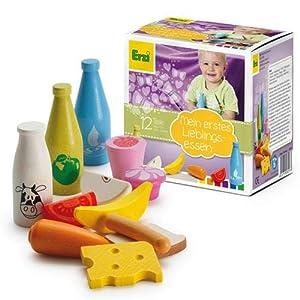 Erzi 28023 Juego de rol - Juegos de rol (Cocina y Comida, Estuche de Juego, 1 año(s), Niño, Niño/niña, Multicolor)