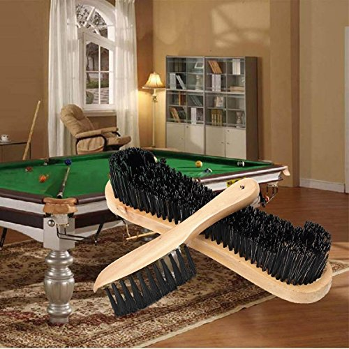 Bazaar 2PCS Holz Reinigung Schienen Filz Bürste für Cue Sport Billard Snooker Table