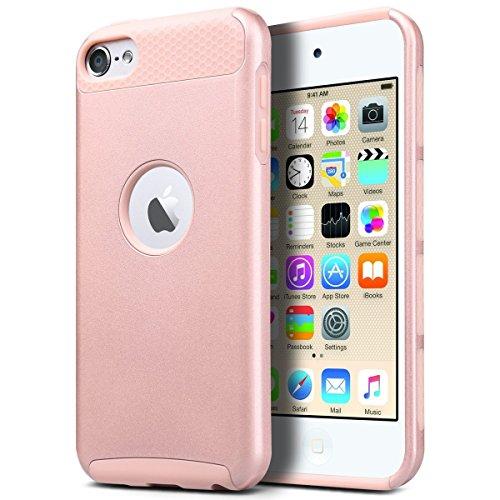 �lle, iPod Touch 6 Hülle Dual Layer Hybrid Schutzhülle Hart PC + TPU Weiche Stoßfest Tasche Case Cover für Apple iPod Touch 5 6 Generation (Rosé Gold) ()