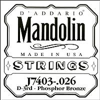 D'Addario J7403 - Juego de cuerdas para mandolina de fósforo/bronce.026