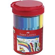 Faber Castell 155550 - Set de 50 rotuladores de colores + 1 plantilla