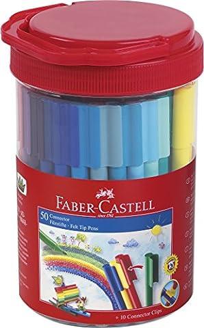 Faber-Castell 155208–Stylo feutre CONNECTEUR Feutre de coloriage 50er