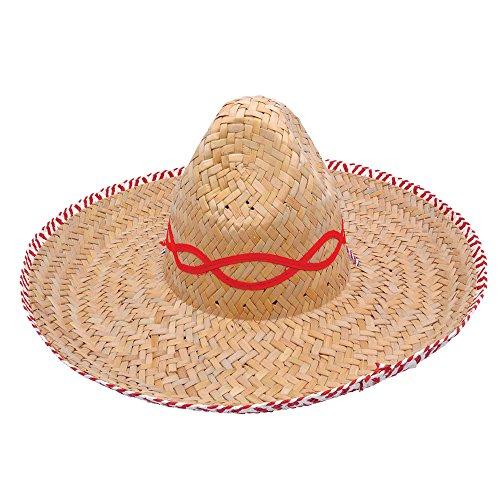 9mexikanischen Stroh Sombrero Budget Hat, Beige, ONE SIZE (Weihnachten Urlaub Themen Kostüme)