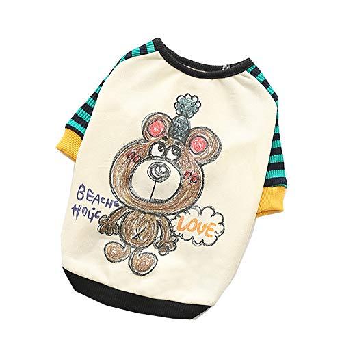 Stretch-baumwolle Tuxedo (XGPT Hundebekleidung Haustier Kostüm Teddy Kleidung zweibeinige Kleidung britische Stretch-Baumwolle,Green,S)