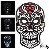 Máscaras LED The Purge, Zolimx Halloween Payaso Sonido Reactivo Cara Completa LED Luz Hasta Máscara de Baile Rave EDM Plur Party (#7)