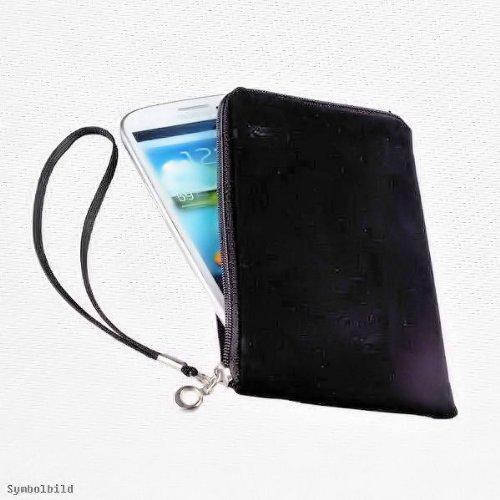 Universal Handy Tasche – Soft Touch Neopren in Schwarz mit Reißverschluss – für Motorola Razr Maxx - Razr XT910 – Cover Case Hülle