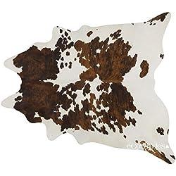 Alfombra de piel de vacuno brasileño Tricolor de la vaca alfombra de piel: XXL por eCowhides