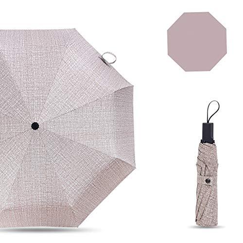 JiMany Regenschirm Regenschirm, Hochwertiger, Großer Klappbarer, Winddichter, Nicht-Automatischer, Kommerzieller Unisex-Regenschirm,Brown