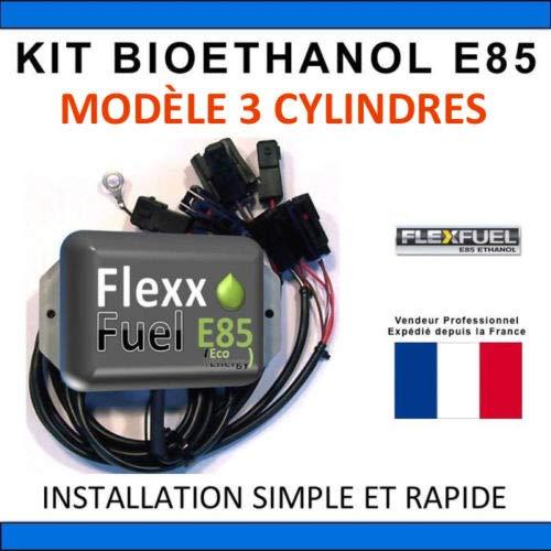 Kit Ethanol Flex Fuel - E85 - Bioethanol - 3 Cylindres + Interface de Diagnostic ELM327 - Compatible avec Renault, Peugeot, Citroen, Ford, BMW, Audi. (Toyota)