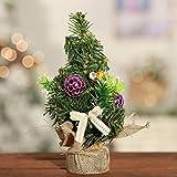Moliies Mini árbol de Navidad pequeño árbol de Navidad Decoración de Escritorio de Navidad Ropa de Cama pequeño árbol Brillante paño pequeño árbol no Tejido árbol de Navidad decoración de 20 cm