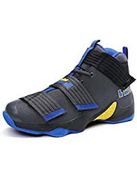 Alta Top Zapatos De Baloncesto Casual Pareja Zapatos Transpirable Peso Ligero Unisex Zapatos Deportivos UE Tamaño 36-45,Gray,42