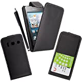 GSDSTYLEYOURMOBILE {TM} HUAWEI ASCEND Y330 PRINTED MAGNETIC PU LEATHER FLIP CASE COVER + STYLUS