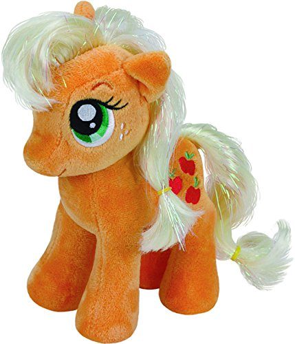 TY 41013 - My Little Pony Baby - Schmusetier Apple Jack, 15 cm (Apple Gestickt)