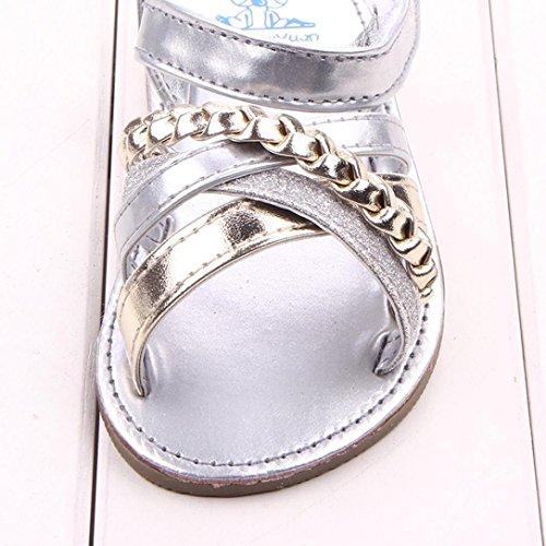 Chaussures Fille, IMJONO Bébé Sandales en plein air Princesse enfantine Premier Walkers Chaussures Enfant Argent