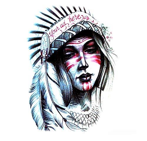 ruofengpuzi Indian Girl Wasserdicht Temporäre Tätowierung-Hülsen-Tätowierung-Aufkleber Harajuku Tattoo Body Art Tattoo-Aufkleber Dame Beauty