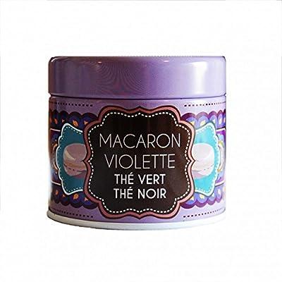 Thé Vertthé noir Macaron Violette- 30g