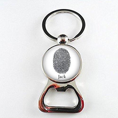 BAB Custom Fingerabdruck-Flaschenöffner – Fingerprint oder Daumenabdruck mit Namen – Fingerabdruck-Flaschenöffner – Ihr tatsächlicher Fingerabdruck