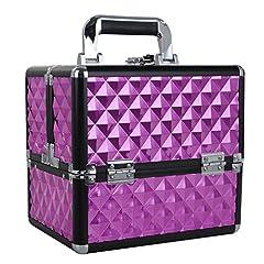 Idea Regalo - Valigetta Trucchi Beauty Case per Estetista Cofanetto Trucco Make Up Bagaglio a Mano 25 x 18 x 23 cm Rosa