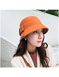Hhpcspc Lesisure Sombrero otoño Invierno Mujer Sombreros de ala Irregular Lana  de Fieltro Sombrero de cúpula 9aee3acf091