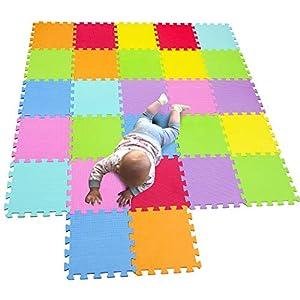 MQIAOHAM spielmatte Baby krabbelmatte puzzlematte puzzelmatten für Babys krabbelteppich Matte Kinder schaumstofffliesen Crawling schadstofffrei CS3009G27