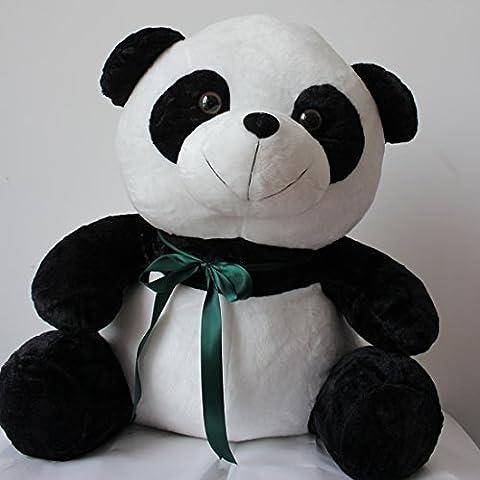Y2Y Studio Panda Géant en Peluche,Grande Panda Blanc et Noir