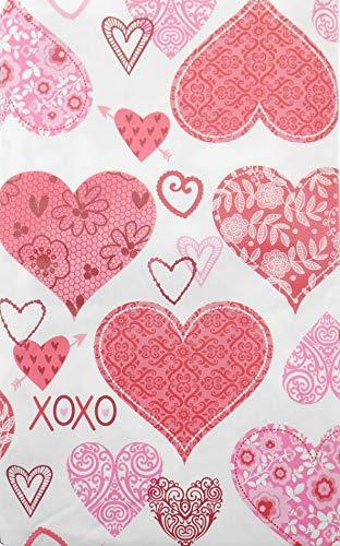 entinstag Spitze und gemusterte Herzen mit X's und O's Flanell Rückseite - Valentinstag Dekoration 52