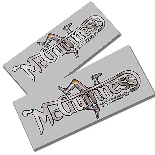 Preisvergleich Produktbild John McGuinness MCNORTON Norton Style Aufkleber iomtt Grafiken X 2kleine