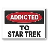 2 x 10cm/100 mm Accro à Star Trek Autocollant de fenêtre en verre Voiture Van Locations #6537