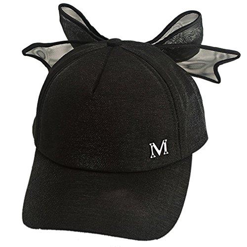 Belsen Damen Schöne Vaterschaft Baseball Hüte Große Bogen Kappen Cap (Adult schwarz) (Bogen-baseball-cap)