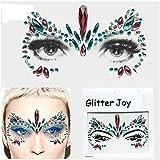 Gem Sticker Viso e Corpo Gioielli Gemma Adesivi Glitter Make Up per Party Festival televisivi e palcoscenico bfg21Rosa Blu