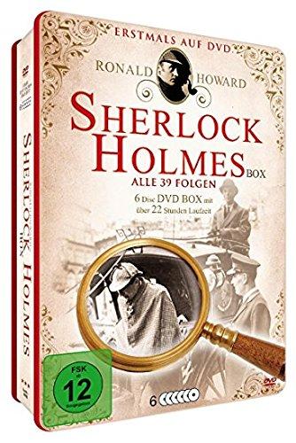 Sherlock Holmes Metalbox : Alle 39 Folgen der TV Serie / Im Zeichen der Vier / Der Hund von Baskerville & Bonus Hörspiel - ()