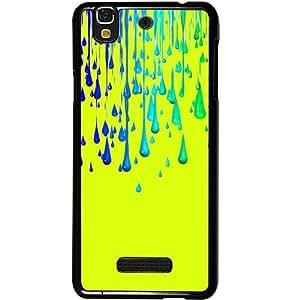 Casotec Neon Paint Design 2D Hard Back Case Cover for Micromax Yu Yureka AQ5510 / AO5510 - Black