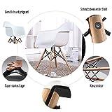 Lot von 4 Esszimmerstuhl, Ajie Retro Stuhl Beistelltisch mit solide Buchenholz Bein - weiß - 6