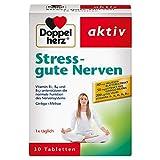 Doppelherz Stress - gute Nerven - Nahrungsergänzungsmittel mit den Vitaminen B1, B2, B6 und B12 für die normale Funktion des Nervensystems - Mit Ginkgo & Melisse - 1 x 30 Tabletten