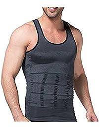 Festnight Pack de 5,Camisetas Original para Hombre,100% Algodón,Grafito Claro,Tallas S