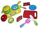 Spielzeug Küchen Zubehör, A133/00, 14 TLG. Set für die Puppenküche oder das Puppenhaus, Geschenk-Idee für Jungen und Mädchen für Weihnachten und zum Geburtstag, Geburtstags-Geschenk