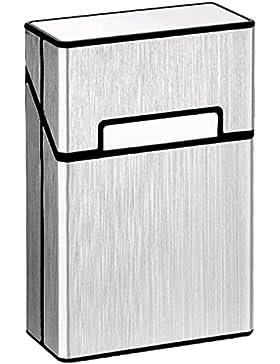 LuckWin Caja Cigarrillos Aluminio para Paquete Tabacos 20pcs Completa Resistente al Agua Golpe y Arañazo