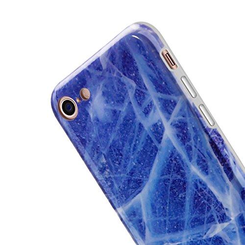 Marmo Cover per iPhone 8 / iPhone 7 4.7 Pollice, Vandot Morbido Custodia per iPhone 8 / iPhone 7 4.7 Pollice Silicone Gel Ultra Sottile Premium TPU Flessibile Case IMD Tecnologia di Disegno Marble,TPU model 17