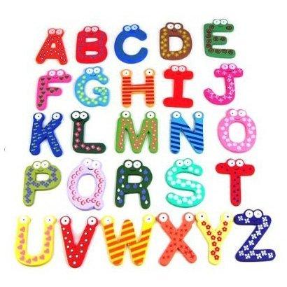 Alphabet lernen und spielen! - Holzbuchstaben Alphabet aus bunten Holzbuchstaben