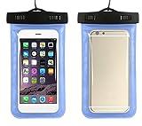 Demarkt Pochette étanche Téléphone Universel Housse étanche Pochette étanche Certifiée IPX8 pour iPhone 6s/6, iPhone 6s Plus/6 Plus, Samsung Galaxy S7/Samsung Galaxy S7 edge, Sony, HTC, LG, Huawei et Smartphone de taille égale et inférieure à 6''