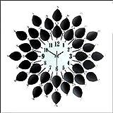 JXXDQ Reloj de Pared Lujoso Moderno Creativo Moderno Silencio Moda Hierro Reloj de Pared Reloj Decorativo Decorativo, Negro (Tamaño : 60 * 60cm)