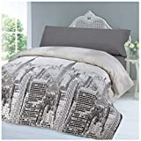 COTTON ART Funda Nordica City Life Reversible Cama de 105
