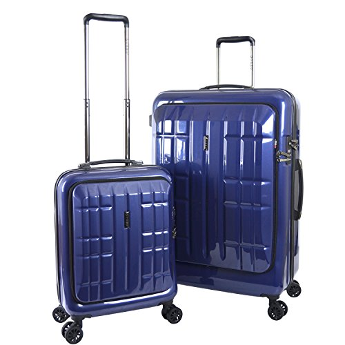 travelers-polo-racquet-club-flex-file-2-piece-expandable-spinner-luggage-set-blue-one-size