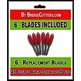 Standard Blades - Cuchillas de repuesto para troqueladoras, 6 unidades