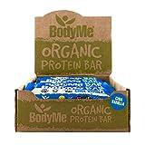 BodyMe Bio Vegane Protein Riegel | Roh Chia Vanille | 12 x 60g | Mit 3 Pflanze Proteine