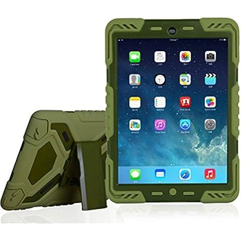 iPad Pro caso, eastcoo Spider-Man con función atril y adhesivo Kid-Proof integrado Protector de pantalla resistente carcasa a prueba de golpes doble capa parachoques suciedad nieve arena prueba PC + carcasa de TPU para Apple iPad 56 verde