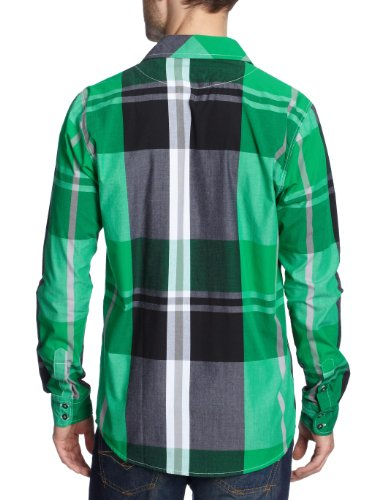 NOMIS Herren Shirt Long Sleeve Big Time Plaid emerald green big plaid