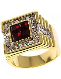 ISADY - Dimitri - Men's Ring - Cubic Zirconia Red